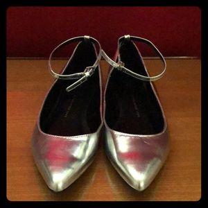 Women's new Silver metallic Ballerinas by GAP